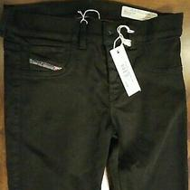Diesel Womens Livier Super Slim Jegging Jeans Black Size 27 Photo
