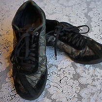 Diesel Womens Shoes Black/gray Leather Size 7.5 Model Name Move in W Photo