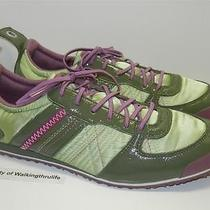 Diesel Womens Sz 7.5 / 38.5 Eur Green & Purple Sneakers Flats Shoes Photo