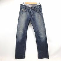 Diesel Yarik Jeans Mens Size 30 X 32 Straight Blue Denim Made Italy Wash 0087j Photo