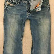Diesel Zaf Denim Jeans Mens W33 L30 Dark Blue Regular Bootcut  Photo