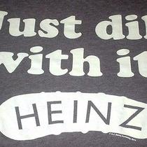 Dill With It Heinz Funny Foodie Pickle Retro Licensed New Green T-Shirt Xl Photo