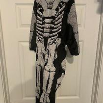 Dinosaur Fossil Skeleton Costume Child Size Xl 4-6 Jumpsuit Only No Headpiece Photo