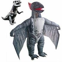 Dinosaur Inflatable Skeleton Costume Dino Fossil Adult Suit Fancy Costume Photo
