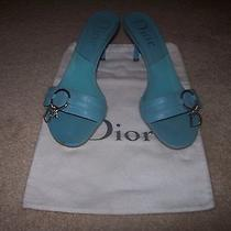 Dior-Authentic-Heels-Blue-Size-39 1/2-Us-Beautiful-Flawless Photo