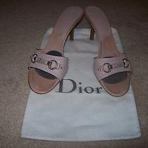 Dior-Authentic-Pink-Lambskin-Heels-Size-40-Beautiful Photo