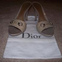 Dior-Authentic-Snakeskin-Tan-Heels-Size-39 1/2-Beautiful Photo