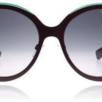 Dior Diorelle 1 Matte Burgundy and Aqua 6mw Sunglasses Photo