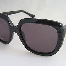 Dior Sunglasses Dior Taffetas 648 Y1 Black Leather Genuine Bnwt  Photo