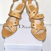 Dior Water Snake Around the Ankle Open Toe Shoes Size 41 Photo