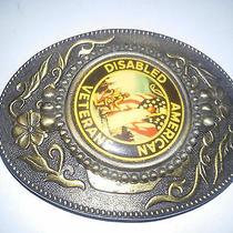 Disabled American Veterans Vintage Belt Buckle Photo