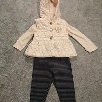 Disney Baby Minnie Mouse Beige Rose Gold Navy Bodywarmer Gilet Outfit 6-9 Months Photo