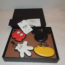Disney Coach Purse Charms Deconstructed Mickey Mouse Ltd Edition Nwt 66520 Boxed Photo