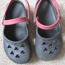 Disney Crocs 12/13 Black Red Mickey Mouse Photo