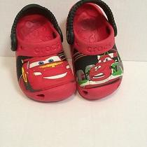 Disney Crocs Boys Cars Red 4 5 Summer Shoes Toddler Photo