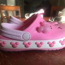 Disney Crocs - Kids/girls - Pink Mickey - Size 8/9 Photo