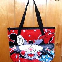 Disney for Avon Mickey Kisses Kissing Minnie Tote Back & Wallet Set New Photo