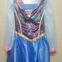 Disney Frozen Anna Elsa Sister Movie Costume Halloween Roleplay Disney Dress 4-6 Photo