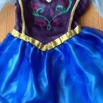 Disney Frozen Anna Movie Costume Elsa Sister Roleplay a Disney Dress 4-6 Size Photo