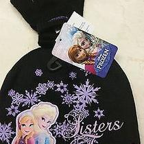 Disney Frozen Elsa and Anna Black Beanie and Mittens...sisters Forever Photo