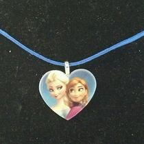 Disney Frozen Movie Theme Necklace Sisters Heart Pendant Necklaceelsa and Ana Photo