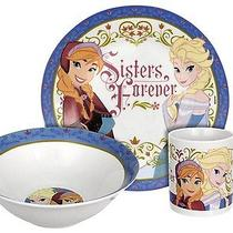 Disney Frozen Sisters Forever 3-Piece Dinnerware Set Photo