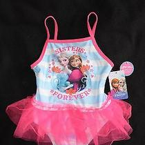 Disney Frozen Sisters Forever One Piece Swim Suit Nwt 4t Photo
