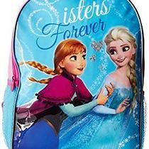 Disney Girls Frozen Sister Forever Backpack Blue One Size Photo