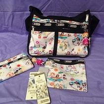 Disney Lesportsac Around the World Everyday Bag and Matching Wallet Photo