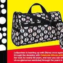 Disney Lesportsac Celebrate Minnie Mouse Everygirl Tote Purse Bag Collectible Photo