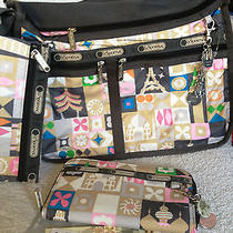 Disney Lesportsac Le  Global Journey Everyday Deluxe  & Lilly Wallet  Nwt Photo