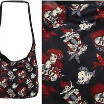 Disney Little Mermaid Punk Tattoo Ariel Hobo Bag Purse Includes Torrid Necklace Photo
