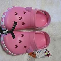 Disney Mickey Croc Shoes Kids Size 4/5 Pink - New Photo