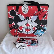 Disney Mickey & Minnie 2-Piece Matching Set (Tote & Wallet) Avon Exclusive Photo