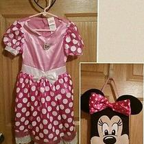 Disney Mickey Mouse Clubhouse Minnie Mouse Toddler Costume Size M3t4t & Ds Bag Photo