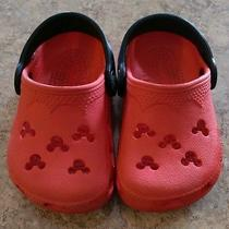 Disney Mickey Mouse Crocs Toddler Size 4/5 Photo