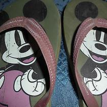 Disney Mickey Mouse Flip Flops Size 6 Avon Euc Photo