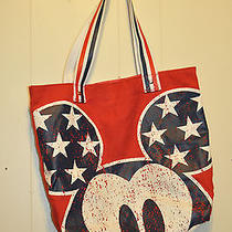 Disney Mickey Mouse Tote Bag Avon Exclusive Patriotic Red White Blue Photo