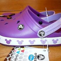 Disney Nwt Girls Boys Crocs Crocband Disney Mickey Mouse Ii J 3 Clogs Purple Photo
