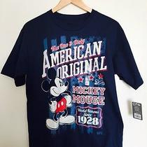 Disney Nwt Mickey Mouse American Vintage Tee for Men Size M Photo