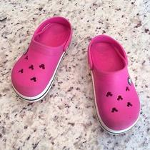 Disney Pink Mickey Crocs Girls Size 12/13 Photo