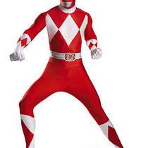 Disney Power Rangers Red Ranger Bodysuit Costume Boys Teen Xl 14-16 Photo