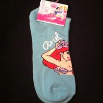 Disney Princess Ariel the Little Mermaid Aqua Ankle Socks Ladies Size 9-11 Photo