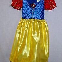 Disney Princess Snow White Fantasy Dress Up Costume Sz 4-6x Removable Petticoat Photo