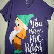 Disney Snow White Bashful Womens You Make Me Blush Nightshirt Gown  Xl 2xl Mwt  Photo