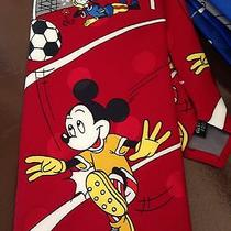 Disney Soccer Mickey Mouse Goofy Neck Tie Polyester Coach Gift  Photo