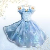 Disney Store Cinderella Live Action Limited Edition 3500 Costume Blue Dress Sz 6 Photo