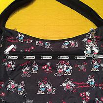 Disney Store Lesportsac Mickey & Minnie Classic Hobo & Small Cosmetic Bag Photo