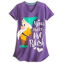 Disney Store Snow White Dwarf Bashful Womens Nightshirt You Make Me Blush 3x Photo