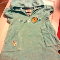 Disney Store Xxs-2/3 Finding Nemo Coverup Aqua Terrycloth Hooded Free Shipping Photo